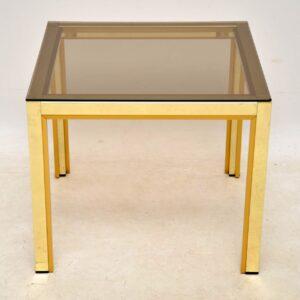 vintage italian brass coffee table zevi
