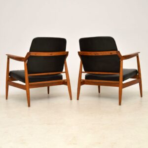 pair of danish leather armchairs