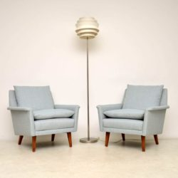 1960's Vintage Pair of Danish Armchairs