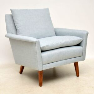 vintage pair of danish armchairs