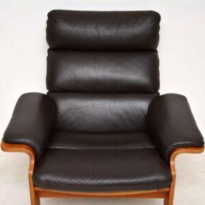 danish vintage leather armchair