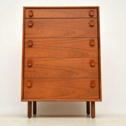 teak vintage danish chest of drawers