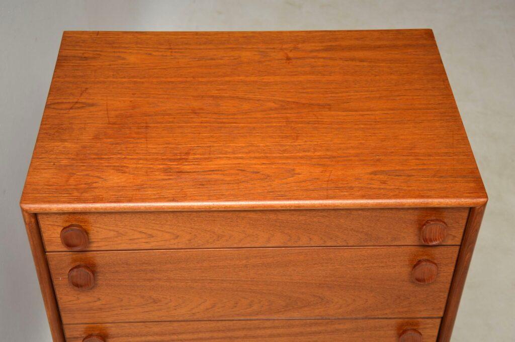 teak vintage danish chest of drawers