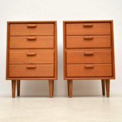 pair of danish vintage teak bedside chests