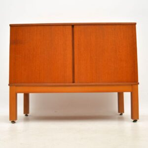 1970's Vintage Teak Record Cabinet