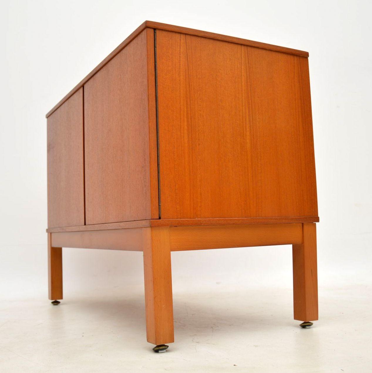 1970 S Vintage Teak Record Cabinet Retrospective