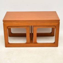 teak vintage nesting danish coffee table side tables
