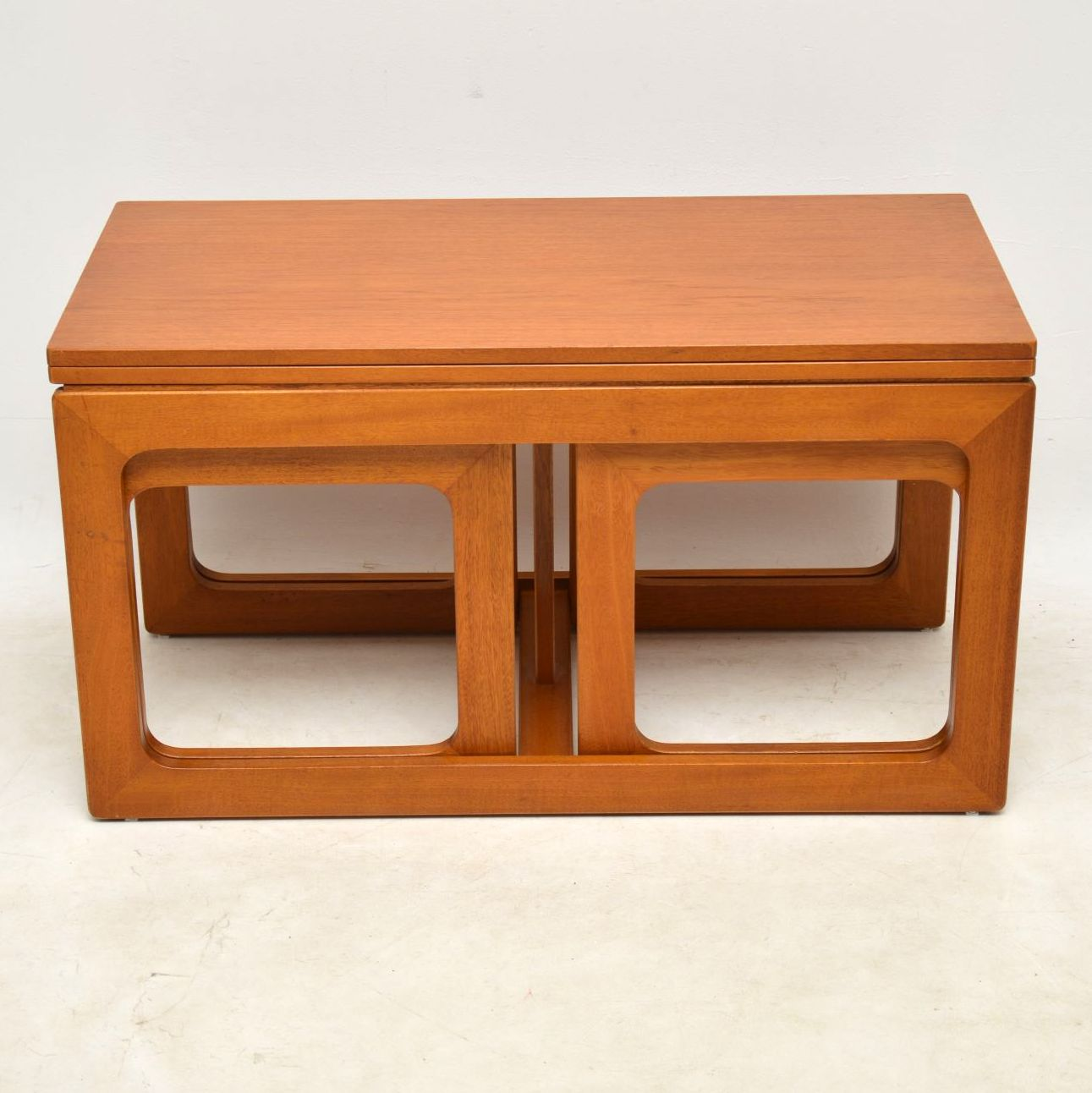 1960's Vintage Teak Nesting Coffee Table / Side Tables ...