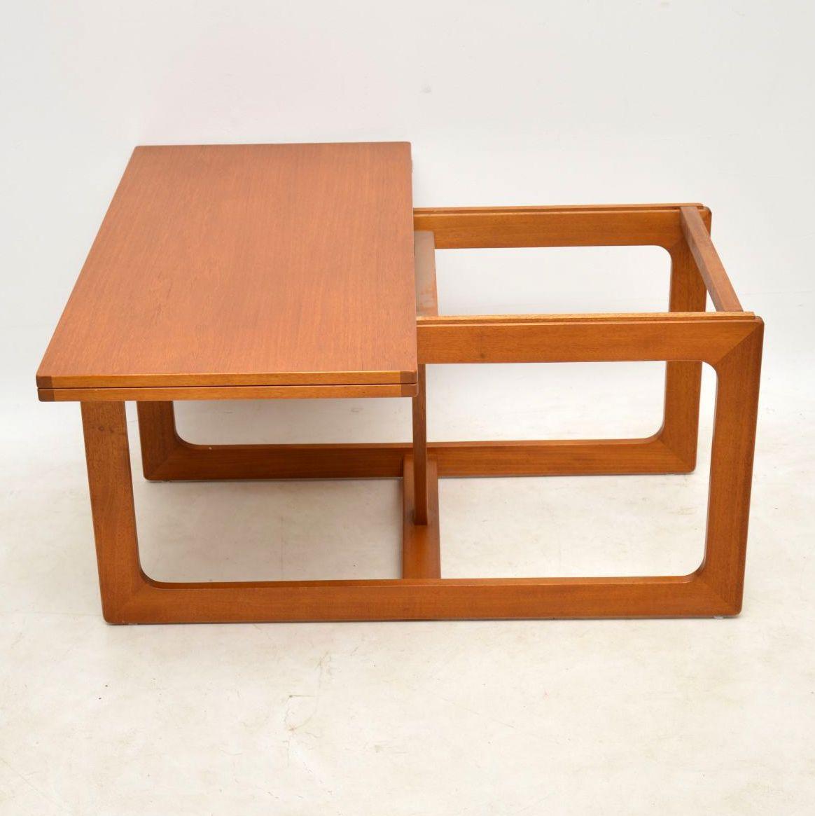 1960 S Vintage Teak Nesting Coffee Table Side Tables