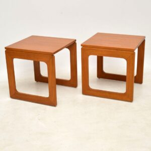 1960's Vintage Teak Nesting Coffee Table / Side Tables