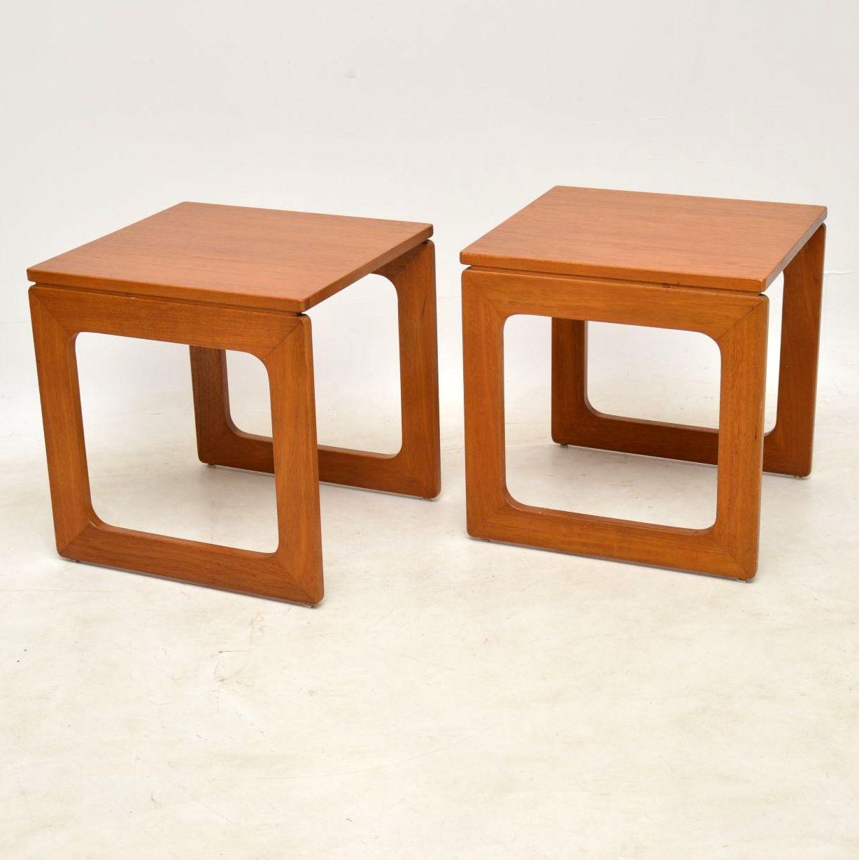 Second Hand Teak Coffee Table: 1960's Vintage Teak Nesting Coffee Table / Side Tables