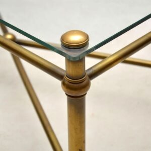vintage french brass coffee table