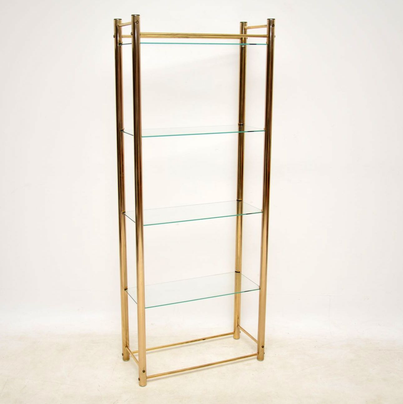 vintage brass display cabinet bookcase