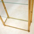 1970's Vintage Brass Bookcase / Display Cabinet