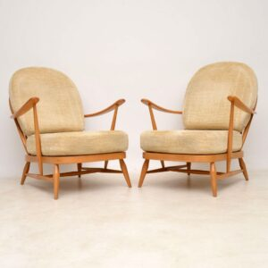 vintage ercol sofa and armchairs