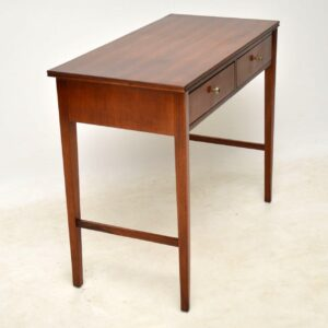 1960's Vintage Walnut Desk / Writing Table / Console Table