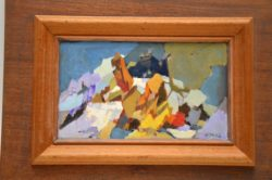 alpine dream original oil painting by hugh micklem
