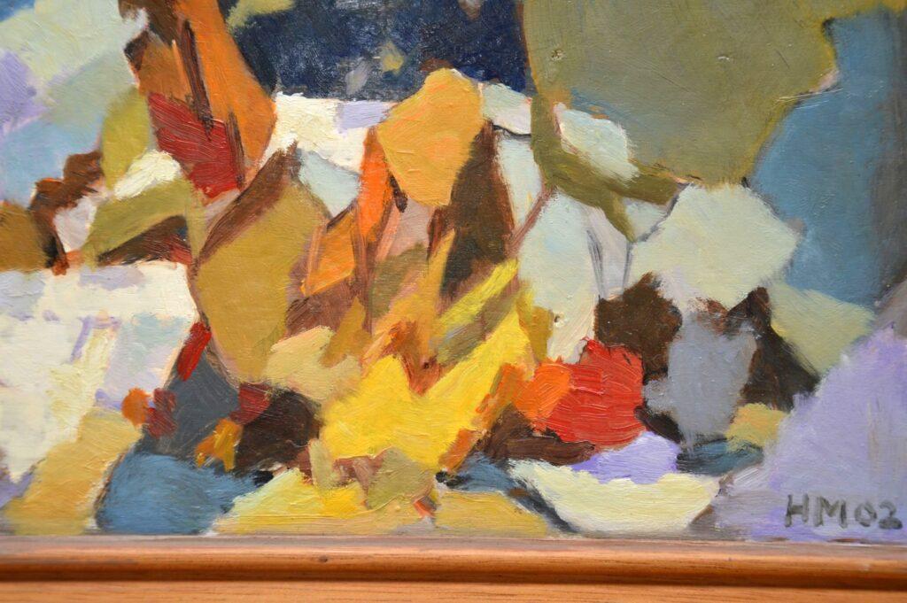 alpine dream original oil painting by hugh micklem