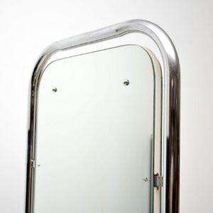 vintage chrome free standing mirror