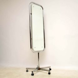 1960's Vintage Chrome Double Sided Mirror