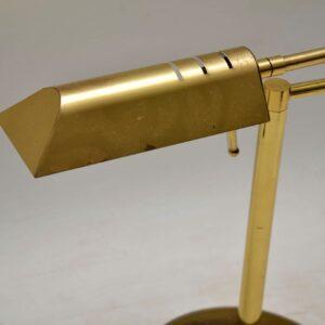 1970's Vintage Brass Desk Lamp