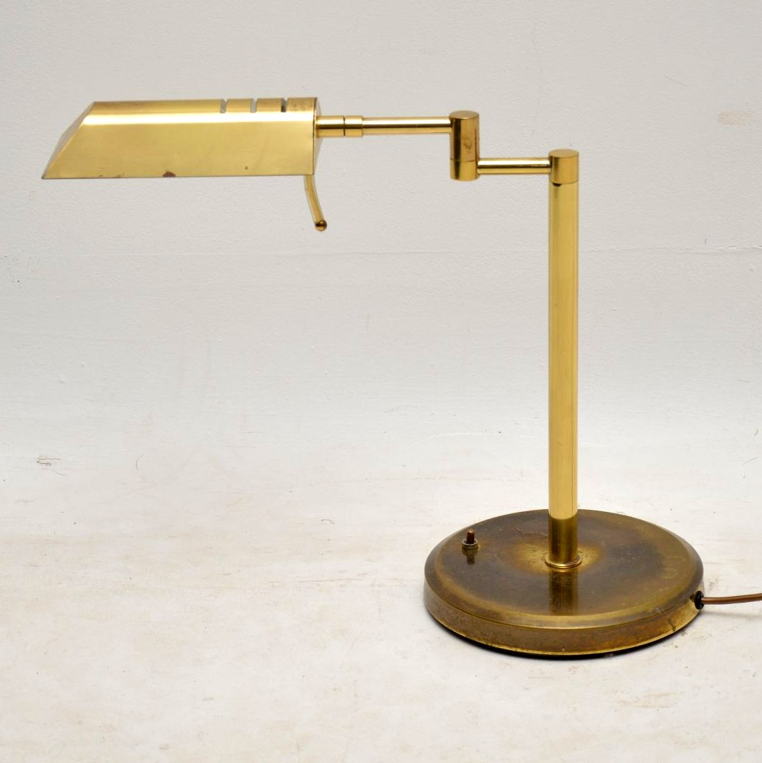 1970 S Vintage Brass Desk Lamp Retrospective Interiors Retro Furniture Vintage Mid Century Furniture Vintage Danish Modern Furniture Antique Furniture London