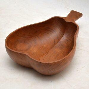 1960's Carved Wood Fruit Bowl
