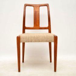 set of eight danish teak vintage dining chairs