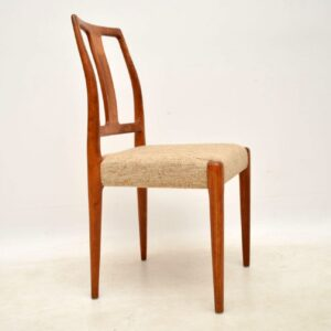set of eight danish teak vintage dining chairs