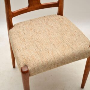 1960's Set of 8 Danish Vintage Teak Dining Chairs