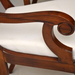 Pair of Antique Regency Style Mahogany Carver Armchairs