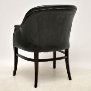 1960's Set of 8 Vintage Leather Dining Chairs