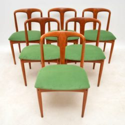 1960's Set of 6 Danish Teak Dining Chairs by Johannes Andersen