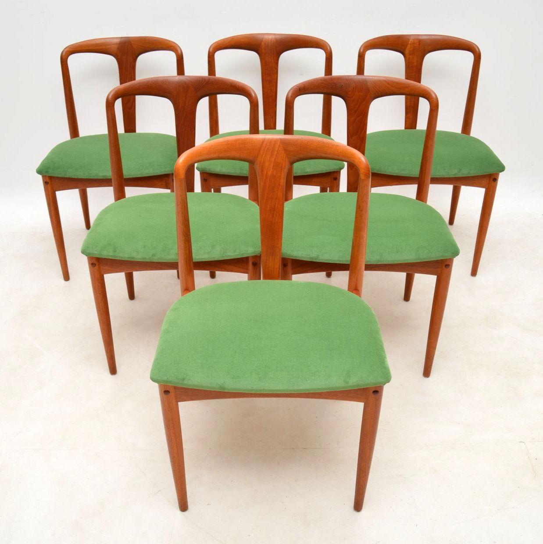 danish teak dining chairs by johannes andersen