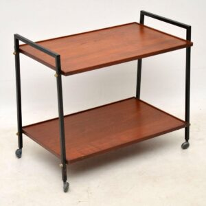 vintage teak drinks trolley