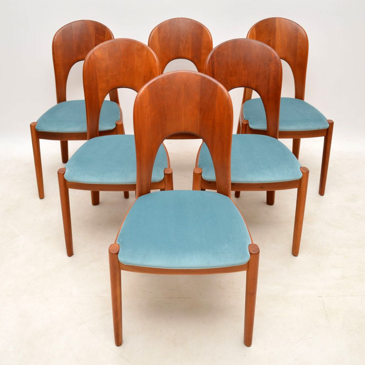 1960\'s Danish Teak Dining Table & Chairs by Niels Koefoed ...