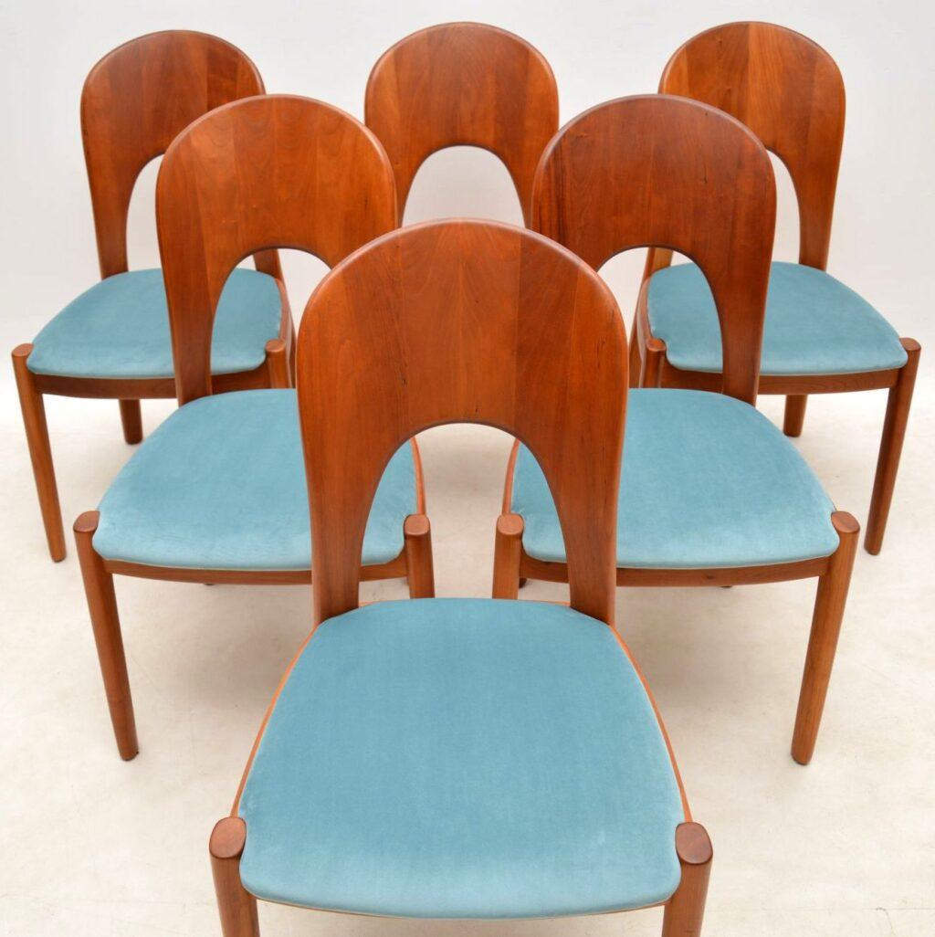 danish teak table and chairs niels koefoed