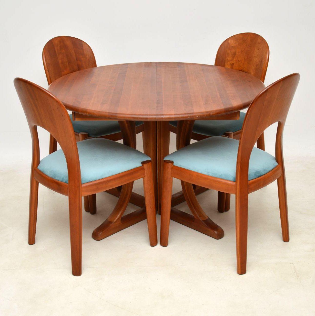 1960's Danish Teak Dining Table & Chairs by Niels Koefoed ...