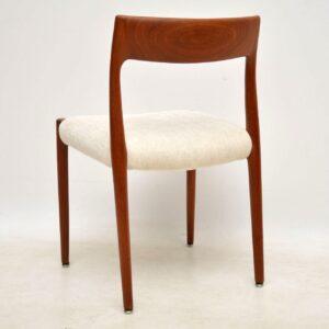 danish teak vintage dining chairs niels moller