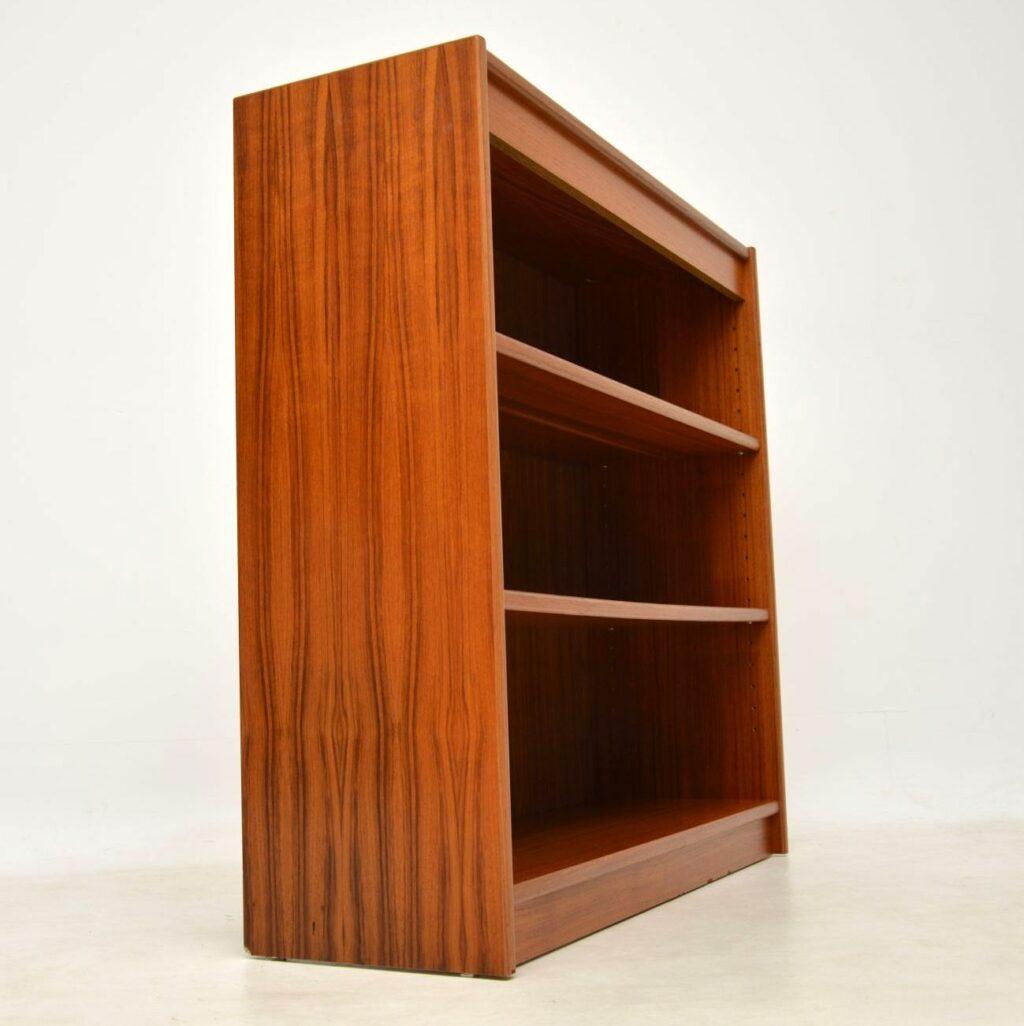 danish teak vintage open bookcase