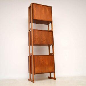 vintage teak bookcase cabinet room divider