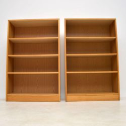 pair of danish vintage oak bookcase