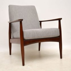 1960's Danish Vintage Armchair in Afromosia