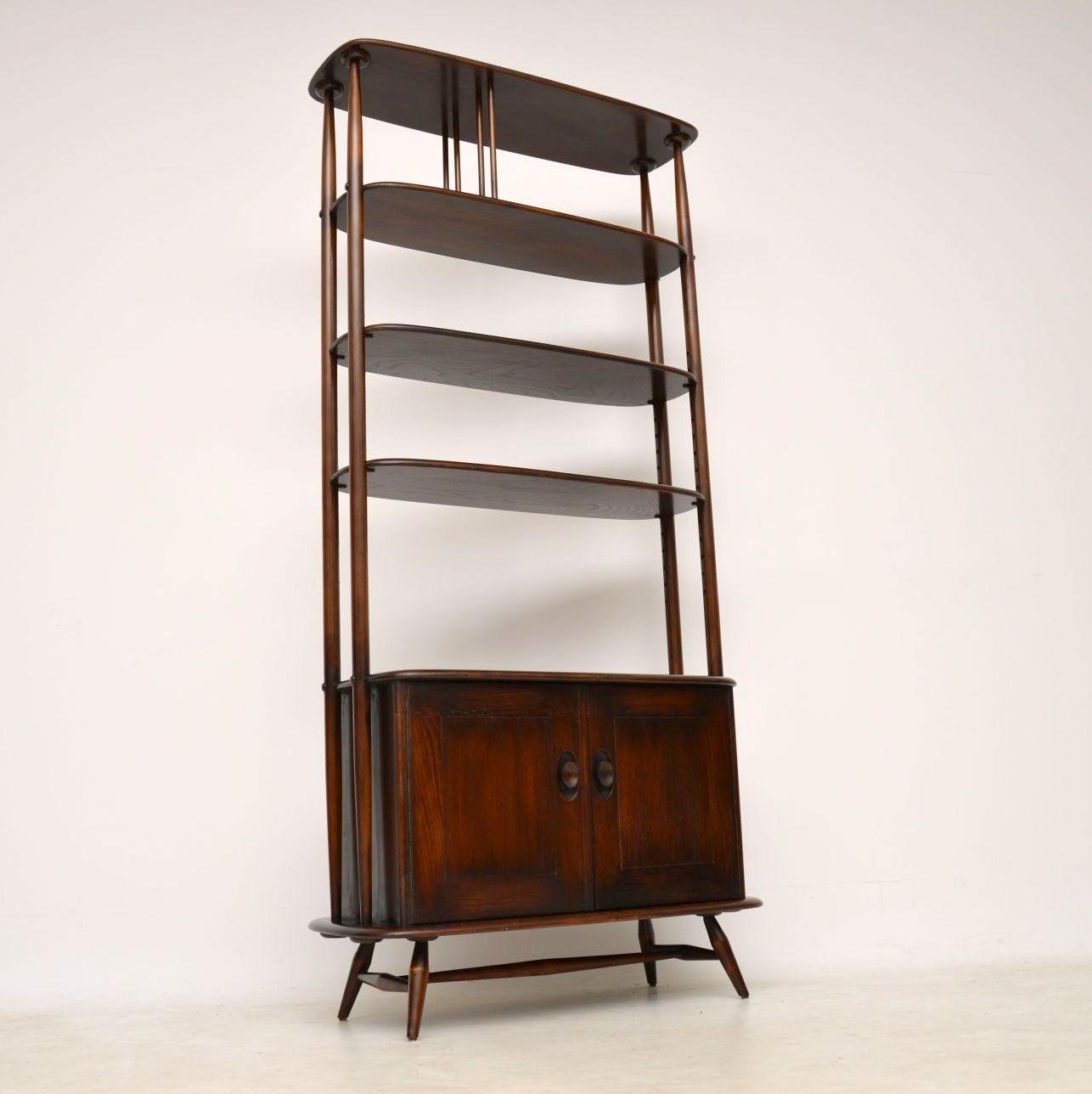 vintage ercol bookcase cabinet room divider