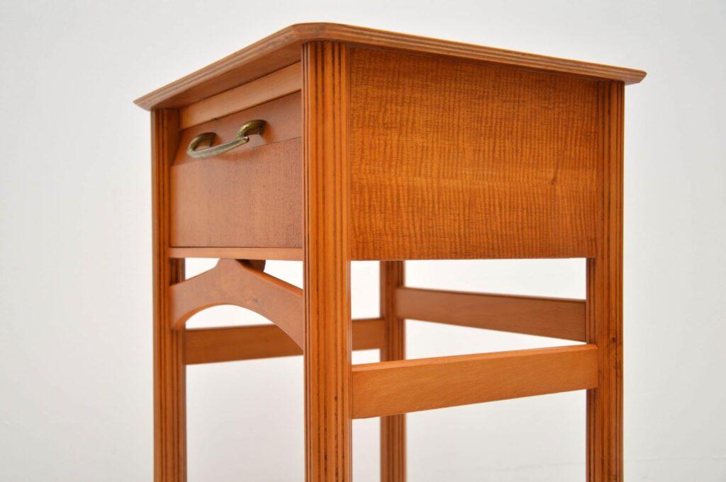 vintage satin wood side table, bedside table