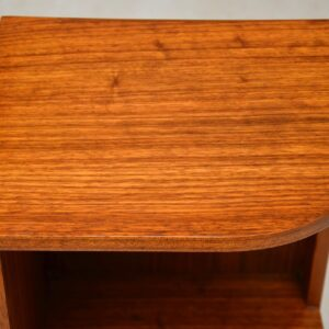 1960's Pair of Vintage Walnut Bedside Cabinets