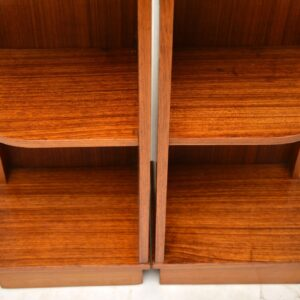 vintage walnut bedside cabinets