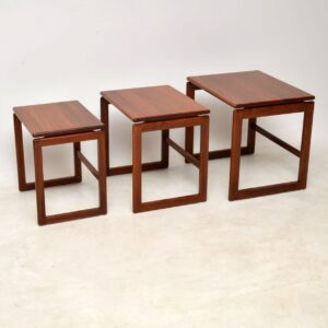 1960's Danish Nest of Tables in Solid Rosewood