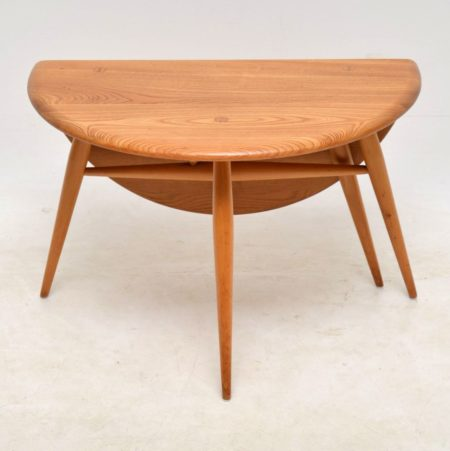 1960 S Vintage Ercol Drop Leaf Coffee Table In Solid Elm