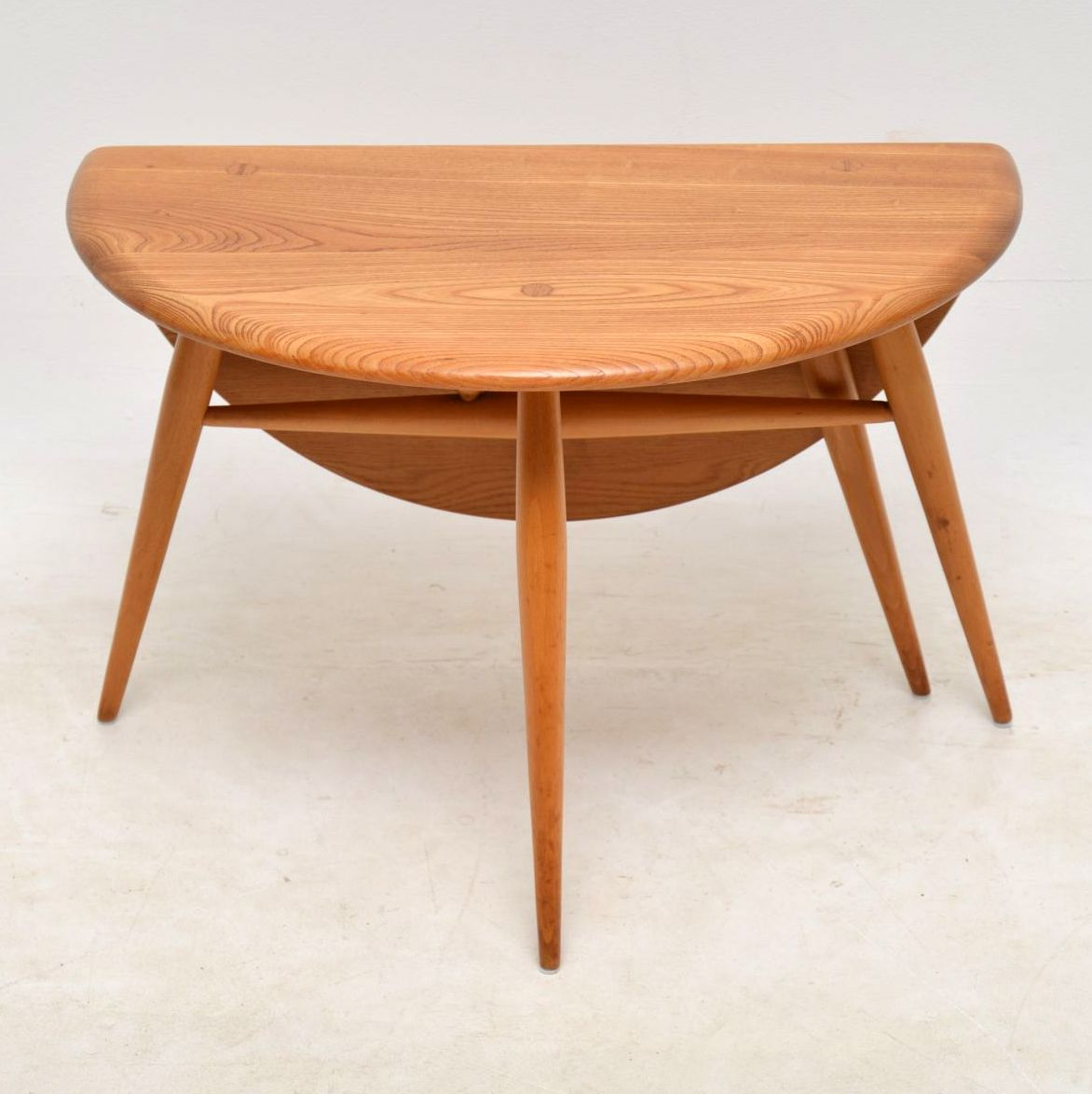 1960 S Vintage Ercol Drop Leaf Coffee Table In Solid Elm